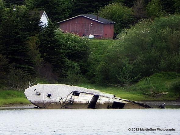 A shipwreck along the way