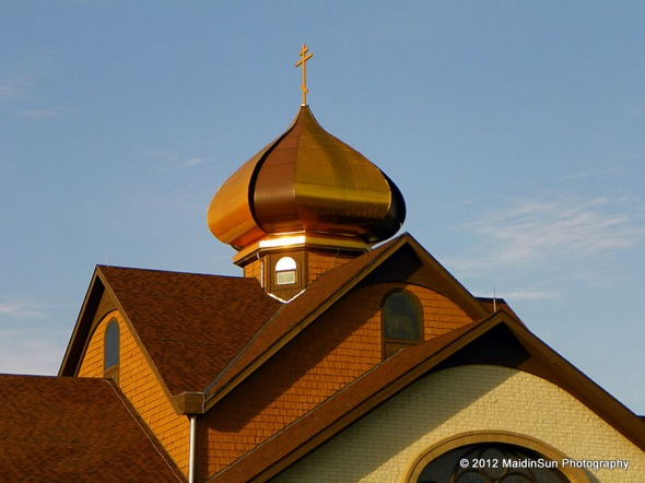 The dome of St. Nicholas Orthodox Church