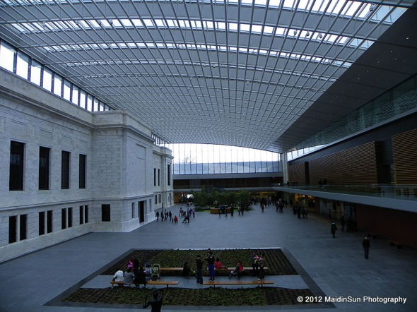 The atrium at the Cleveland Museum of Art