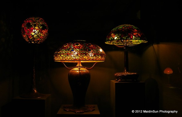 Tiffany lamps.  Cleveland Museum of Art.