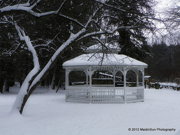 The gazebo at Quail Hollow State Park
