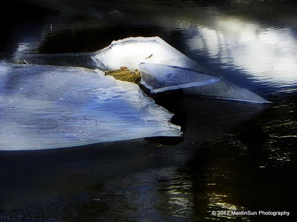 Slabs of ice on the creek