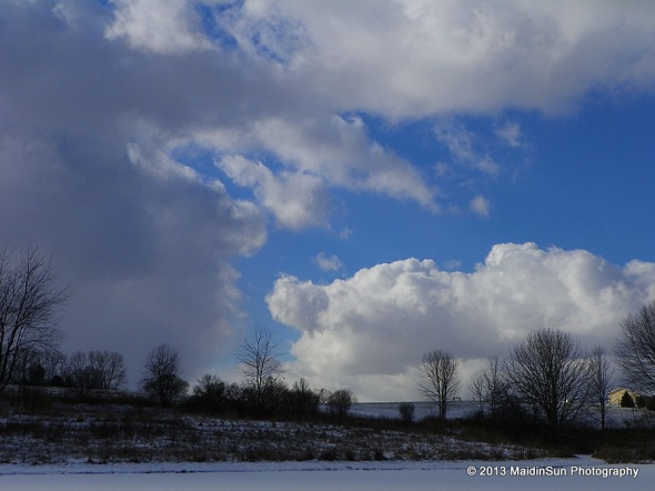 Snow squall clouds