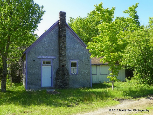 Middle Ridge School, 1876.  (Cape Breton Island, Nova Scotia.  8 June 2012.)