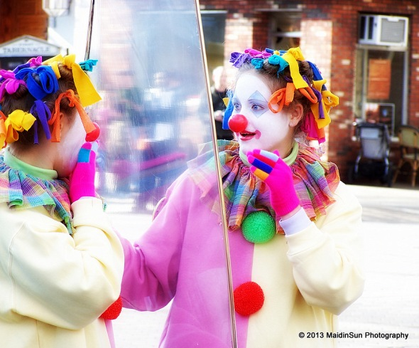 Mirror, mirror.  (Philadelphia Mummers Parade.  2007)