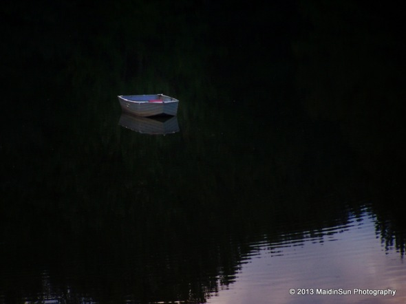 Rowboat at sunset.  2008
